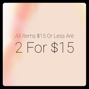 2 For $15 Sale